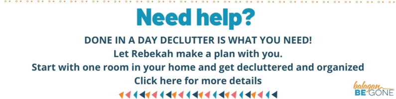 Done in a day declutter course box